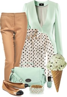 """""""Professional Mint Chocolate Chip"""" by midwestdreamer ❤ liked on Polyvore"""