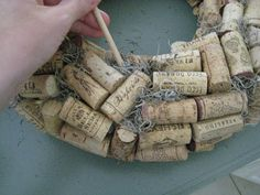 I have been hoarding wine corks from various people, places and events for years and years and  I finally got around to putting them to good...