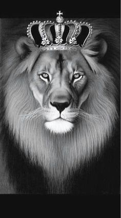Crowned lion painting --Prince of Peace