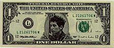Bob Dylan on the dollar bill...