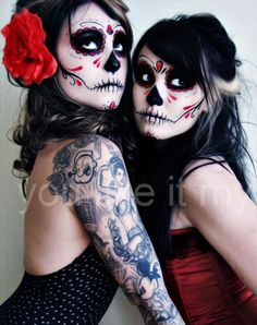 You Like It My...: Easy Mexican Sugar Skull Makeup For Day Of The Dead Sugar skull makeup. Simple sugar skull makeup. Sugar skull face paint. Sugar skulls makeup. How to sugar skull makeup. Best makeup for skull face. Best paint for sugar skull makeup. Best sugar skull makeup. #makeup #sugarskull #Halloween