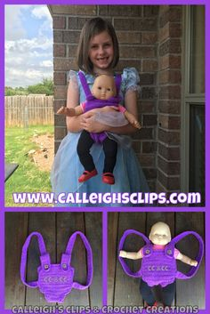 Calleigh's Clips & Crochet Creations: Bitty Baby Carrier