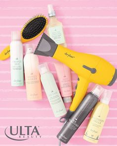 Say hi to the Drybar essentials you *need* for perfect blowouts: Buttercup Blow Dryer, with a blend of 32 minerals embedded in the heat coils to hydrate and condition (seriously), plus texturizing, volumizing, conditioning, and heat protecting hair products.