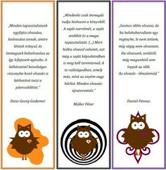Kids Learning, Book Worms, Bookmarks, Diy Gifts, Free Printables, Owl, Writing, Education, Reading