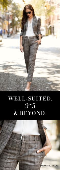 One chic silhouette is all you need to be perfectly polished from 9-5. Make it your own with an ultra-feminine blouse & chic heels, Then ditch the jacket for post work activities. 9-5 & beyond invest in quality.