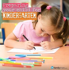 FamilyShare.com l Preparing your child for kindergarten