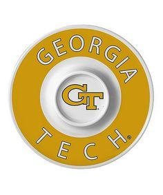 This Georgia Tech Yellow Jackets Dip Serving Tray is perfect! #zulilyfinds $10!