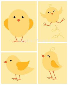 INSTANT DOWNLOAD  Nursery Subway Art  5x7  8x10  by gemberlelie, $20.00 baby chicks set of 4