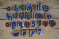 Alphabet Stones Painted Rocks Story Stones by TheLastBestPlaceBaby