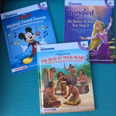 Disney Musical Exploration Storybooks!