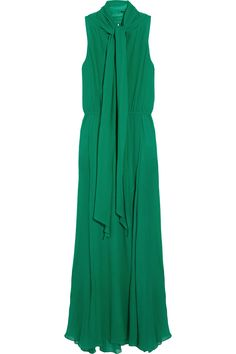 Shelby crinkled silk-crepe gown by BCBGMAXAZRIA