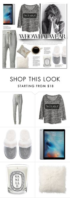 """""""What to Wear: Netflix Binge"""" by hafsahshead ❤ liked on Polyvore featuring James Perse, Chicnova Fashion, Victoria's Secret, Diptyque, Pottery Barn, Pier 1 Imports, casual, like, WhatToWear and loungewear"""
