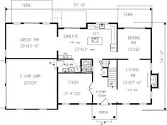 1000 Images About 1 Design Center Hall Colonial Home: center hall colonial floor plans