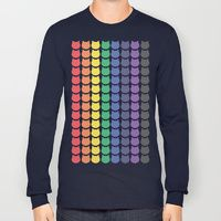 Long Sleeve T-shirt featuring Rainbow Cats by Megan Hillier