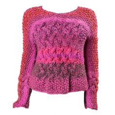 Joan Vass Hand-Knit Sweater - this is an oldie but goodie...love how the cables shape the garment
