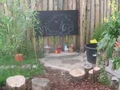 Krijtbord in de tuin!