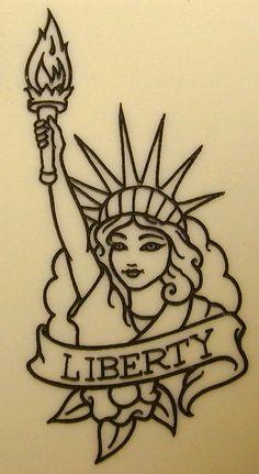 Afbeeldingsresultaat voor statue of liberty Tattoo outline Statue Of Liberty Drawing, Statue Of Liberty Tattoo, Statue Tattoo, Baby Tattoos, Leg Tattoos, Small Tattoos, Tattos, Tattoo Sketches, Tattoo Drawings