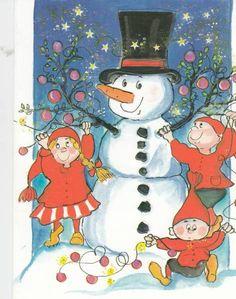 Virpi Pekkala Christmas Tale, Merry Little Christmas, Christmas Snowman, Xmas, Christmas Clipart, Christmas Greetings, Christmas Cards, Christmas Postcards, Christmas Illustration