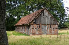 barn with lots of character, from mix of materials & trim