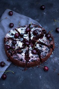Chocolate Monday with delicious chocolate and cherry cake, Food N, Food And Drink, Kiss The Cook, Cherry Cake, Cake & Co, New Cake, Delicious Chocolate, Yummy Cakes, Sweets