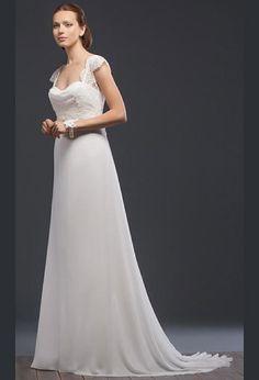Свадебное платье в греческом стиле со шлейфом | Wedding dress in Grecian style with train