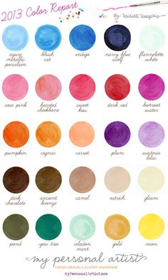 What a beautiful palette of colors this year. Keep these in mind when planning your big day!