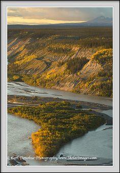 Sunset over the Copper River, Wrangell - St. Elias National Park and Preserve, Alaska.