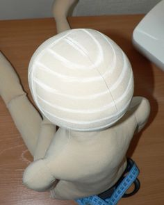great pictorial for making doll hair -- You get amazing results with doing the hair this way, the best way I've found so far to get a really thick full head of hair on a fabric doll. -- useful info if I decide to start doll-making. Doll Wigs, Doll Hair, Doll Crafts, Diy Doll, Yarn Wig, Doll Making Tutorials, Hair Tutorials, Doll Tutorial, Sewing Dolls