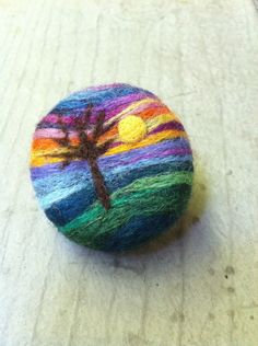 Needle+Felted+Broochwool+painting+by+roanannie+on+Etsy,+$35.00
