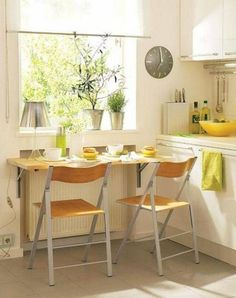 1000 images about ideas for my small kitchen on for Galley kitchen table ideas