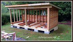 diy Design Fanatic: Building A Woodshed Farm Plans, Wood Shed Plans, Diy Shed Plans, Garden Storage Shed, Outdoor Storage Sheds, Outdoor Sheds, Building A Wood Shed, Shed Landscaping, Shed Blueprints