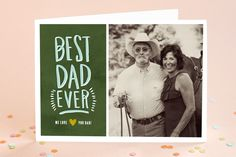 Painted Best Dad Father's Day Greeting Cards by Alethea and Ruth at minted.com
