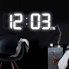 Digital Wall, Digital Alarm Clock, Led Wall Clock, Wall Clocks, Alarm Clocks, Rocket Lamp, Desktop Clock, Tabletop Clocks, Modern Clock