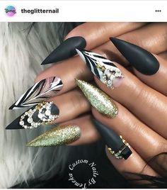 """2,025 Likes, 14 Comments - CustomTnails (@customtnails1) on Instagram: """"""""Panty Dropper"""" Sexy Sculpture Stilettos for @s.l.v Using @kingofnail #exclusivecouture Lace and…"""""""