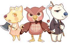 Animal Crossing Pixels by noizi.deviantart.com on @deviantART