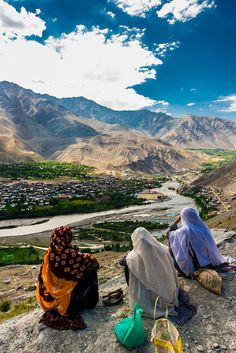 River and the city of Kargil, Ladakh, Jammu and Kashmir State, India