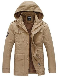 New Trending Outerwear: Wantdo Womens Warm Faux Fur Lined Parka Coat with Removable Hood, Khaki, US 6. Wantdo Women's Warm Faux Fur Lined Parka Coat with Removable Hood, Khaki, US 6  Special Offer: $35.97  400 Reviews Zip-fly Button-end jacket adds versatility to a fully adjustable parka coat. A multitude of pockets provide plenty of storage space. Adjustable tab closure at...