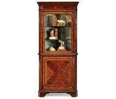 small rushmore Mahogany glazed corner cabinet with cupboard