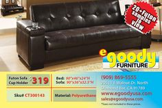 futon sofa bed sleeper with storage and cup holder