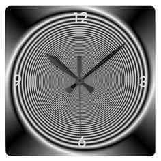 Black and White Swirl > Wall Clock