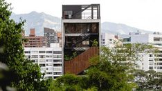 Balconies cover facade of The Somos hotel in Medellín by Arquitectura Hotel Architecture, Vernacular Architecture, Giancarlo Mazzanti, Colombian Cities, Boutique Hotel Room, Vietnam Hotels, Outdoor Steps, Exposed Brick Walls, Hotel Services
