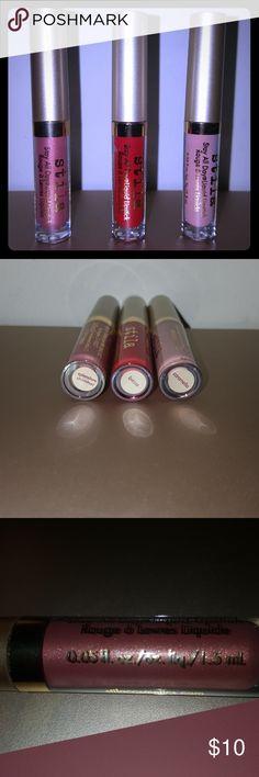 💄Stila💄Stay All Day Liquid Lipstick Minis Stila Stay All Day Liquid Lipstick Minis in:  (New Spring Color!)-->Splendore Shimmer & Beso & Caramello $7 apiece or $20 for all Stila Makeup Lipstick