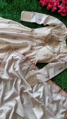 Designer cream color gown, Designer women gown for wedding, Designer women for f… Pakistani Fashion Party Wear, Pakistani Dresses Casual, Indian Gowns Dresses, Pakistani Dress Design, Dress Neck Designs, Designs For Dresses, Kurti Embroidery Design, Embroidery Dress, Stylish Dresses For Girls