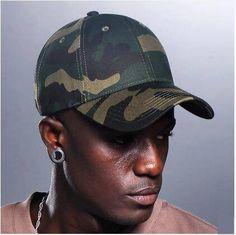 2cb304fffa3 Green camouflage baseball cap for men UV protection sun hats