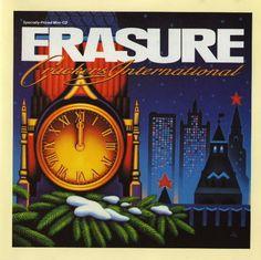 "Erasure Crackers International 6trk Cd Ep USA #Christmas Song +12"" Remixes 1988 #ElectroSynth"