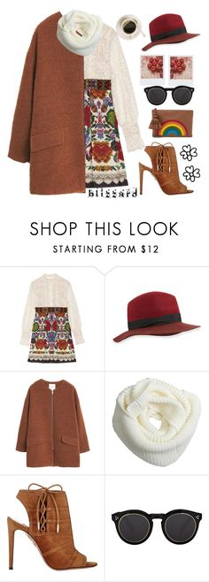 """Boho Winter"" by karineminzonwilson on Polyvore featuring Anna Sui, rag & bone, MANGO, Aquazzura, Illesteva, Anya Hindmarch, Winter, boho and blizzard"