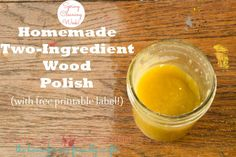 Homemade Wood Polish with Only Two Ingredients!