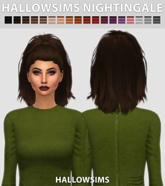 HallowSims Nightingale - Comes in 18 colours - Smooth bone assignment. - Hat compatible. - All LOD's. - Almost no transparency issues. - Custom Ambient Occlusion (Shadow Map). - HQ mod compatible. -...