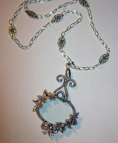 Hey, I found this really awesome Etsy listing at https://www.etsy.com/listing/153708205/magnifying-glass-ornate-floral-frame-and