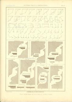 Furniture traditional French - Trace Geometrique des moulures et profils divers